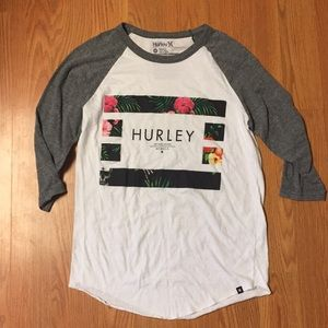 Hurley Premium Fit 3/4 Sleeve Tee